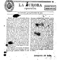 La Aurora. Prospecto