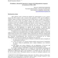Periodismo y libertad de imprenta en vísperas de la independencia uruguaya: la coyuntura de 1822 a 1823, por Wilson F. González Demuro